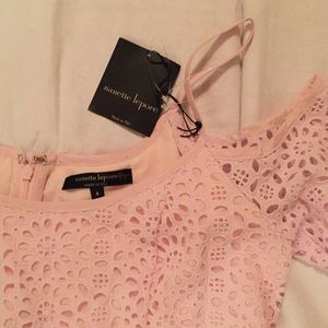 Nanette Lepore Dresses - Nanette Lepore Pink Lace Dress